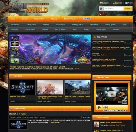 Игровой шаблон Game World под DLE 9.6